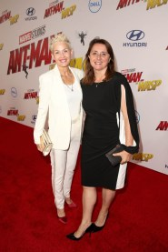 """HOLLYWOOD, CA - JUNE 25: Imelda Corcoran (L) and Executive Producer Victoria Alonso attend the Los Angeles Global Premiere for Marvel Studios' """"Ant-Man And The Wasp"""" at the El Capitan Theatre on June 25, 2018 in Hollywood, California. (Photo by Jesse Grant/Getty Images for Disney) *** Local Caption *** Imelda Corcoran; Victoria Alonso"""