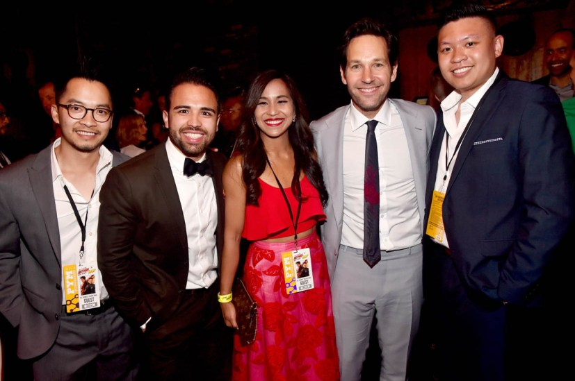 """HOLLYWOOD, CA - JUNE 25: Actor Paul Rudd and charity winners attend the Los Angeles Global Premiere for Marvel Studios' """"Ant-Man And The Wasp"""" at the El Capitan Theatre on June 25, 2018 in Hollywood, California. (Photo by Alberto E. Rodriguez/Getty Images for Disney) *** Local Caption *** Paul Rudd"""