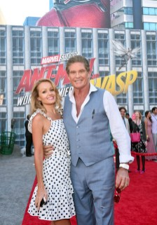 "HOLLYWOOD, CA - JUNE 25: Hayley Roberts (L) and David Hasselhoff attend the Los Angeles Global Premiere for Marvel Studios' ""Ant-Man And The Wasp"" at the El Capitan Theatre on June 25, 2018 in Hollywood, California. (Photo by Alberto E. Rodriguez/Getty Images for Disney) *** Local Caption *** David Hasselhoff; Hayley Roberts"