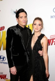 "HOLLYWOOD, CA - JUNE 25: Actor David Dastmalchian (L) and Evelyn Leigh attend the Los Angeles Global Premiere for Marvel Studios' ""Ant-Man And The Wasp"" at the El Capitan Theatre on June 25, 2018 in Hollywood, California. (Photo by Jesse Grant/Getty Images for Disney) *** Local Caption *** David Dastmalchian; Evelyn Leigh"