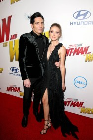 """HOLLYWOOD, CA - JUNE 25: Actor David Dastmalchian (L) and Evelyn Leigh attend the Los Angeles Global Premiere for Marvel Studios' """"Ant-Man And The Wasp"""" at the El Capitan Theatre on June 25, 2018 in Hollywood, California. (Photo by Jesse Grant/Getty Images for Disney) *** Local Caption *** David Dastmalchian; Evelyn Leigh"""