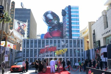 "HOLLYWOOD, CA - JUNE 25: A view of the atmosphere at the Los Angeles Global Premiere for Marvel Studios' ""Ant-Man And The Wasp"" at the El Capitan Theatre on June 25, 2018 in Hollywood, California. (Photo by Charley Gallay/Getty Images for Disney)"