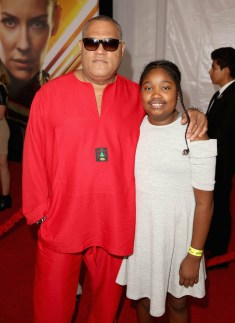 """HOLLYWOOD, CA - JUNE 25: Actor Laurence Fishburne and guest attend the Los Angeles Global Premiere for Marvel Studios' """"Ant-Man And The Wasp"""" at the El Capitan Theatre on June 25, 2018 in Hollywood, California. (Photo by Jesse Grant/Getty Images for Disney) *** Local Caption *** Laurence Fishburne"""