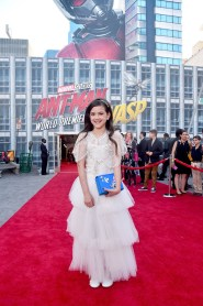 """HOLLYWOOD, CA - JUNE 25: Actor Abby Ryder Fortson attends the Los Angeles Global Premiere for Marvel Studios' """"Ant-Man And The Wasp"""" at the El Capitan Theatre on June 25, 2018 in Hollywood, California. (Photo by Alberto E. Rodriguez/Getty Images for Disney) *** Local Caption *** Abby Ryder Fortson"""