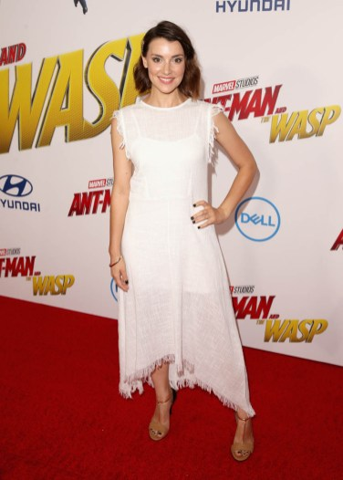 """HOLLYWOOD, CA - JUNE 25: Emma Lahana attends the Los Angeles Global Premiere for Marvel Studios' """"Ant-Man And The Wasp"""" at the El Capitan Theatre on June 25, 2018 in Hollywood, California. (Photo by Jesse Grant/Getty Images for Disney) *** Local Caption *** Emma Lahana"""