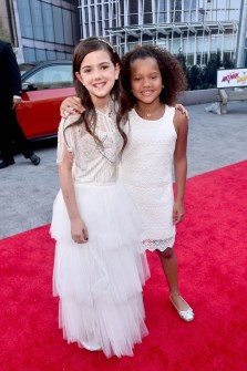"""HOLLYWOOD, CA - JUNE 25: Actors Abby Ryder Fortson (L) and RaeLynn Bratten attend the Los Angeles Global Premiere for Marvel Studios' """"Ant-Man And The Wasp"""" at the El Capitan Theatre on June 25, 2018 in Hollywood, California. (Photo by Alberto E. Rodriguez/Getty Images for Disney) *** Local Caption *** Abby Ryder Fortson; RaeLynn Bratten"""