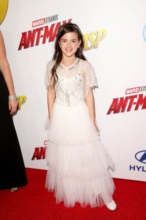 """HOLLYWOOD, CA - JUNE 25: Actor Abby Ryder Fortson attends the Los Angeles Global Premiere for Marvel Studios' """"Ant-Man And The Wasp"""" at the El Capitan Theatre on June 25, 2018 in Hollywood, California. (Photo by Jesse Grant/Getty Images for Disney) *** Local Caption *** Abby Ryder Fortson"""
