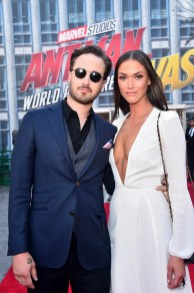 """HOLLYWOOD, CA - JUNE 25: Screenwriter Gabriel Ferrari (L) and guest attend the Los Angeles Global Premiere for Marvel Studios' """"Ant-Man And The Wasp"""" at the El Capitan Theatre on June 25, 2018 in Hollywood, California. (Photo by Alberto E. Rodriguez/Getty Images for Disney) *** Local Caption *** Gabriel Ferrari"""
