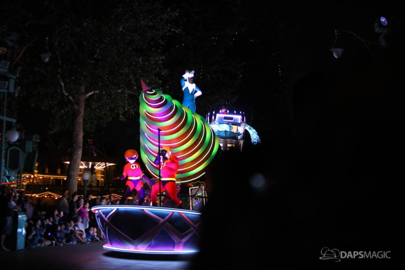 Pixar Pier Media Event - Paint the Night with Incredibles Float-45
