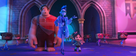 "YESSS – In ""Ralph Breaks the Internet: Wreck It Ralph 2,"" video game bad guy Ralph and his fellow misfit Vanellope von Schweetz venture into the expansive and thrilling world of the internet where an algorithm named Yesss—who constantly scours the net to find the hottest new content to post at her website, BuzzzTube.com—helps them navigate the uncharted territory. Featuring the voices of John C. Reilly as Ralph, Sarah Silverman as Vanellope and Taraji P. Henson as the voice of Yesss, the follow-up to 2012's ""Wreck It Ralph"" opens in theaters nationwide Nov. 21, 2018...©2018 Disney. All Rights Reserved."