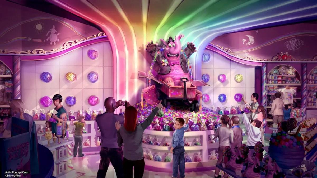Bing Bong's Sweet Stuff Bringing Sweet Candy Tears to Pixar Pier at Disney California Adventure