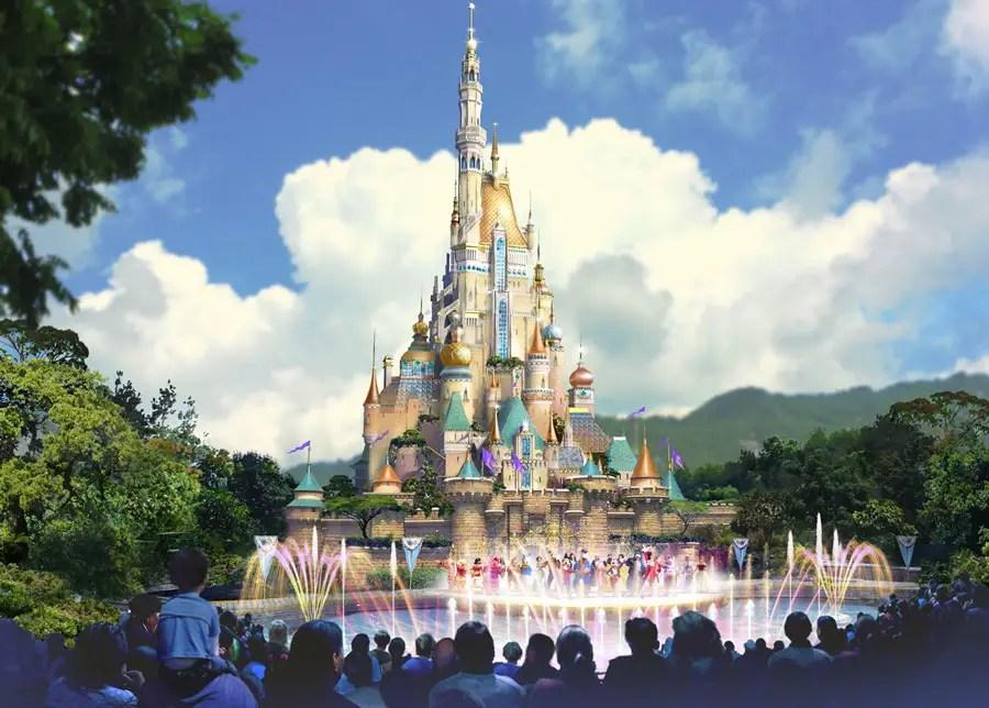 Hong Kong Disneyland - Sleeping Beauty Castle Rendering