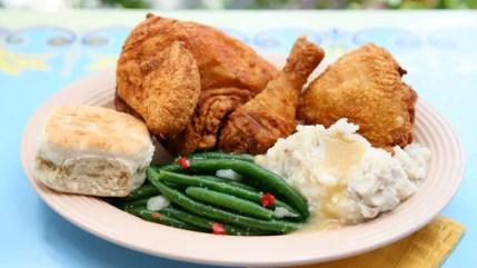 Fried Chicken at Plaza Inn - Disneyland