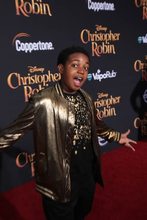 "Isaac Brown attends the world premiere of Disney's ""Christopher Robin"" at the Main Theater on the Walt Disney Studios lot in Burbank, CA on July 30, 2018. (Photo: Alex J. Berliner/ABImages)"