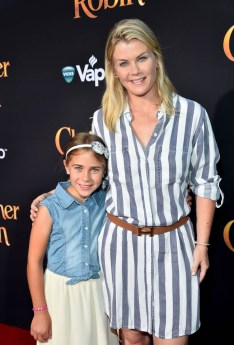 BURBANK, CA - JULY 30: Alison Sweeney (R) and Megan Sanov attend the world premiere of Disney's 'Christopher Robin' at the Main Theater on the Walt Disney Studios lot in Burbank, CA on July 30, 2018. (Photo by Alberto E. Rodriguez/Getty Images for Disney) *** Local Caption *** Alison Sweeney; Megan Sanov