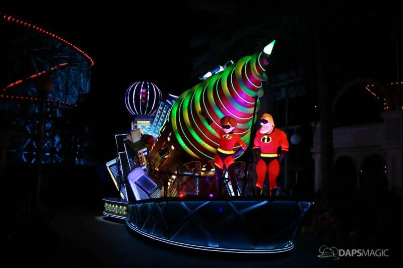 Pixar Fest - Disney's Paint the Night Parade - Incredibles 2 Float