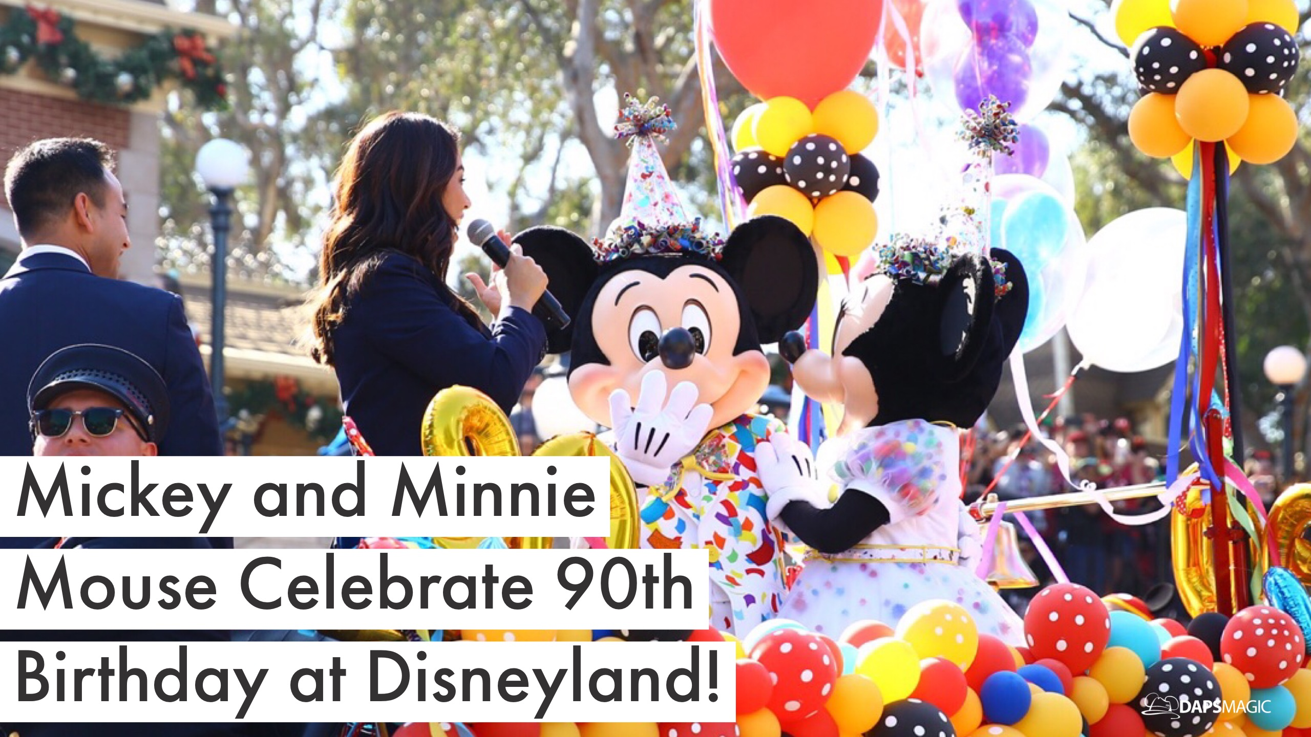 Mickey and Minnie Mouse Party Down Main Street USA with the Gang for the Grand 90th Birthday Celebration!