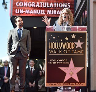 "LOS ANGELES, CALIFORNIA - NOVEMBER 30: Lin-Manuel Miranda (L) and ""Weird Al"" Yankovic attend the ceremony honoring Lin-Manuel Miranda with a Star on the Hollywood Walk of Fame on November 30, 2018 in Hollywood, California.. (Photo by Alberto E. Rodriguez/Getty Images for Disney)"