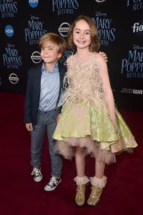 HOLLYWOOD, CA - NOVEMBER 29: Actors Joel Dawson (L) and Pixie Davies attend Disney's 'Mary Poppins Returns' World Premiere at the Dolby Theatre on November 29, 2018 in Hollywood, California. (Photo by Alberto E. Rodriguez/Getty Images for Disney) *** Local Caption *** Joel Dawson; Pixie Davies