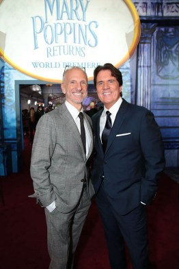 John DeLuca and Rob Marshall attend The World Premiere of Disney's Mary Poppins Returns at the Dolby Theatre in Hollywood, CA on Wednesday, November 29, 2018 (Photo: Alex J. Berliner/ABImages)