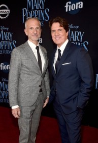 HOLLYWOOD, CA - NOVEMBER 29: Producer John DeLuca (L) and Director/producer Rob Marshall attend Disney's 'Mary Poppins Returns' World Premiere at the Dolby Theatre on November 29, 2018 in Hollywood, California. (Photo by Alberto E. Rodriguez/Getty Images for Disney) *** Local Caption *** John DeLuca; Rob Marshall
