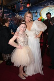 Kitana Turnbull and Emily Blunt attend The World Premiere of Disney's Mary Poppins Returns at the Dolby Theatre in Hollywood, CA on Wednesday, November 29, 2018 (Photo: Alex J. Berliner/ABImages)