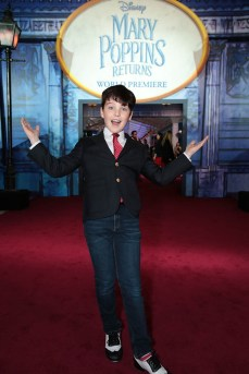 Iain Armitage attends The World Premiere of Disney's Mary Poppins Returns at the Dolby Theatre in Hollywood, CA on Wednesday, November 29, 2018 (Photo: Alex J. Berliner/ABImages)