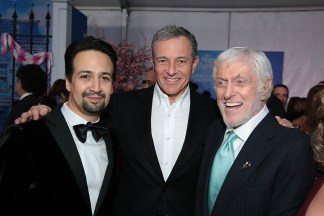 Lin-Manuel Miranda, Bob Iger and Dick Van Dyke attend The World Premiere of Disney's Mary Poppins Returns at the Dolby Theatre in Hollywood, CA on Wednesday, November 29, 2018 (Photo: Alex J. Berliner/ABImages)