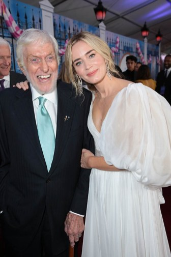 Emily Blunt and Dick Van Dyke attend The World Premiere of Disney's Mary Poppins Returns at the Dolby Theatre in Hollywood, CA on Wednesday, November 29, 2018 (Photo: Alex J. Berliner/ABImages)