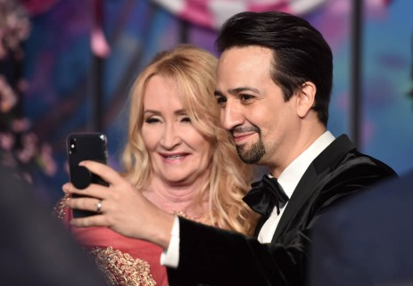 HOLLYWOOD, CA - NOVEMBER 29: Actors Karen Dotrice (L) and Lin-Manuel Miranda attend Disney's 'Mary Poppins Returns' World Premiere at the Dolby Theatre on November 29, 2018 in Hollywood, California. (Photo by Alberto E. Rodriguez/Getty Images for Disney) *** Local Caption *** Karen Dotrice; Lin-Manuel Miranda