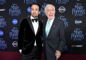 HOLLYWOOD, CA - NOVEMBER 29: Actors Lin-Manuel Miranda (L) and Dick Van Dyke attend Disney's 'Mary Poppins Returns' World Premiere at the Dolby Theatre on November 29, 2018 in Hollywood, California. (Photo by Charley Gallay/Getty Images for Disney) *** Local Caption *** Lin-Manuel Miranda; Dick Van Dyke