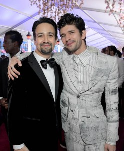 HOLLYWOOD, CA - NOVEMBER 29: Actors Lin-Manuel Miranda (L) and Ben Whishaw attend Disney's 'Mary Poppins Returns' World Premiere at the Dolby Theatre on November 29, 2018 in Hollywood, California. (Photo by Charley Gallay/Getty Images for Disney) *** Local Caption *** Lin-Manuel Miranda; Ben Whishaw