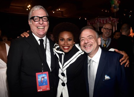 HOLLYWOOD, CA - NOVEMBER 29: (L-R) Co-Lyricist Scott Wainman, Jenifer Lewis, and Composer/Songwriter/Co-Lyricist Marc Shaiman attend Disney's 'Mary Poppins Returns' World Premiere at the Dolby Theatre on November 29, 2018 in Hollywood, California. (Photo by Alberto E. Rodriguez/Getty Images for Disney) *** Local Caption *** Scott Wainman; Marc Shaiman; Jenifer Lewis