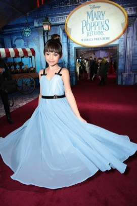 Ariana Greenblatt attends The World Premiere of Disney's Mary Poppins Returns at the Dolby Theatre in Hollywood, CA on Wednesday, November 29, 2018 (Photo: Alex J. Berliner/ABImages)