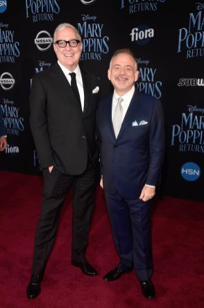 HOLLYWOOD, CA - NOVEMBER 29: Co-lyricist Scott Wittman (L) and Composer/Co-lyricist Marc Shaiman attend Disney's 'Mary Poppins Returns' World Premiere at the Dolby Theatre on November 29, 2018 in Hollywood, California. (Photo by Alberto E. Rodriguez/Getty Images for Disney) *** Local Caption *** Scott Wittman; Marc Shaiman