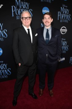 HOLLYWOOD, CA - NOVEMBER 29: Co-lyricist Scott Wittman (L) and guest attend Disney's 'Mary Poppins Returns' World Premiere at the Dolby Theatre on November 29, 2018 in Hollywood, California. (Photo by Alberto E. Rodriguez/Getty Images for Disney) *** Local Caption *** Scott Wittman