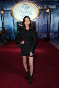 Madison Hu attends The World Premiere of Disney's Mary Poppins Returns at the Dolby Theatre in Hollywood, CA on Wednesday, November 29, 2018 (Photo: Alex J. Berliner/ABImages)