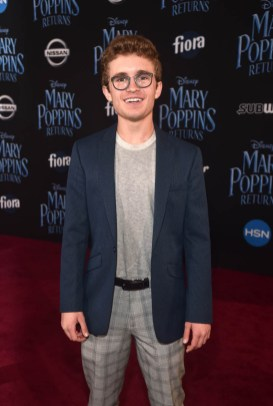 HOLLYWOOD, CA - NOVEMBER 29: Sean Giambrone attends Disney's 'Mary Poppins Returns' World Premiere at the Dolby Theatre on November 29, 2018 in Hollywood, California. (Photo by Alberto E. Rodriguez/Getty Images for Disney) *** Local Caption *** Sean Giambrone