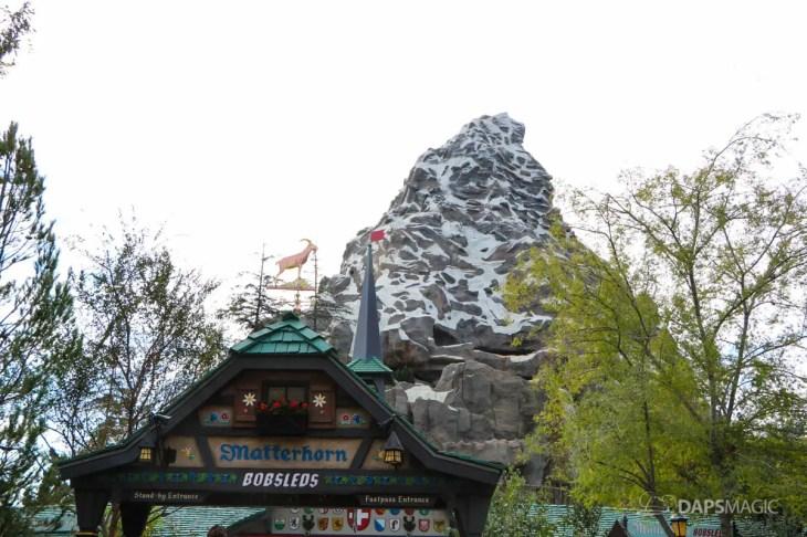 New Matterhorn Bobsleds Entrance and Queue at Disneyland-11