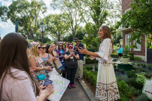 Guests can discover the history and art of tea blending during the complimentary guided English Tea Garden Tour in the United Kingdom Pavilion during the 2017 Epcot International Flower & Garden Festival. The Festival, which runs 90 days, March 1-May 29, 2017 at Walt Disney World Resort in Lake Buena Vista, Fla., features dozens of character topiaries, stunning floral displays, Outdoor Kitchens with fresh taste treats, gardening seminars and the Garden Rocks concert series Ð all included in regular Epcot admission. (Matt Stroshane, photographer)