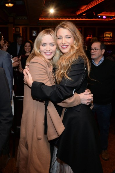- New York, NY - 01/10/2018 - Ryan Reynolds and Blake Lively hosted a Mary Poppins Returns reception in New York at Feinstein`s / 54 Below followed by a special screening of the movie which has been nominated for 4 Golden Globe Awards including Best Picture, 9 Critics` Choice Awards and AFI`s Top 10 Films of 2018, earlier tonight. The film`s star Emily Blunt, Rob Marshall (director), John DeLuca (producer), David Magee (screenwriter), Marc Shaiman (composer, songwriter/co-lyricist) and Scott Wittman (co-lyricist) joined the couple at the reception. -PICTURED: Emily Blunt,Blake Lively -PHOTO by: Michael Simon/startraksphoto.com -MS57189 Editorial - Rights Managed Image - Please contact www.startraksphoto.com for licensing fee Startraks Photo Startraks Photo New York, NY For licensing please call 212-414-9464 or email sales@startraksphoto.com Image may not be published in any way that is or might be deemed defamatory, libelous, pornographic, or obscene. Please consult our sales department for any clarification or question you may have Startraks Photo reserves the right to pursue unauthorized users of this image. If you violate our intellectual property you may be liable for actual damages, loss of income, and profits you derive from the use of this image, and where appropriate, the cost of collection and/or statutory damages.
