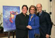 """BEVERLY HILLS, CA - JANUARY 11: Sophia Loren host a star-studded reception for """"Mary Poppins Returns,"""" nominated for 4 Golden Globe® Awards including Best Picture, 9 Critics' Choice Awards and AFI's Top 10 Films of 2018 at a special screening. Filmmakers joining her at the reception were: director Rob Marshall, producer John DeLuca, director of photography Dion Beebe, production designer John Myhre, composer, songwriter/co-lyricist Marc Shaiman and co-lyricist Scott Wittman>> at Montage Beverly Hills on January 11, 2019 in Beverly Hills, California (Photo by Charley Gallay/Getty Images for Disney) *** Local Caption *** Rob Marshall;Sophia Loren;Edoardo Ponti"""