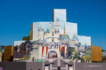 New Scrims on Sleeping Beauty Castle Refurbishment Walk Around at the Disneyland Resort-11
