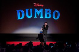 Director Tim Burton surprises Disneyland Park guests in Anaheim, Calif., March 9, 2019, during a sneak peek of the upcoming grand live-action adventure ÒDumbo,Ó in theaters March 29. For a limited time, a sneak peek of the film can be seen in the Main Street Opera House at Disneyland Park. (Joshua Sudock/Disneyland Resort)