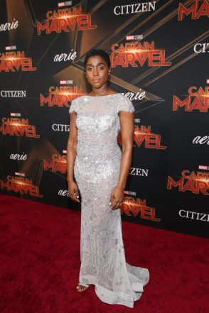 "HOLLYWOOD, CA - MARCH 04: Actor Lashana Lynch attends the Los Angeles World Premiere of Marvel Studios' ""Captain Marvel"" at Dolby Theatre on March 4, 2019 in Hollywood, California. (Photo by Jesse Grant/Getty Images for Disney) *** Local Caption *** Lashana Lynch"