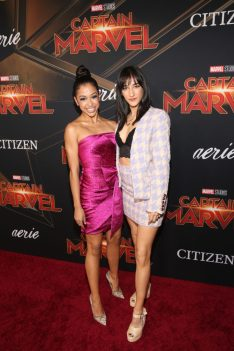 "HOLLYWOOD, CA - MARCH 04: Liza Koshy and Mariah Amato attend the Los Angeles World Premiere of Marvel Studios' ""Captain Marvel"" at Dolby Theatre on March 4, 2019 in Hollywood, California. (Photo by Jesse Grant/Getty Images for Disney) *** Local Caption *** Mariah Amato; Liza Koshy"