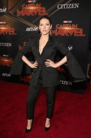 "HOLLYWOOD, CA - MARCH 04: Actor Katheryn Winnick attends the Los Angeles World Premiere of Marvel Studios' ""Captain Marvel"" at Dolby Theatre on March 4, 2019 in Hollywood, California. (Photo by Jesse Grant/Getty Images for Disney) *** Local Caption *** Katheryn Winnick"