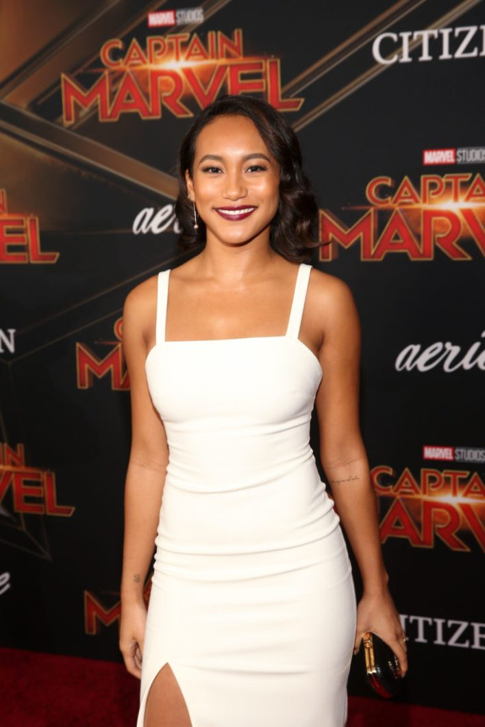 "HOLLYWOOD, CA - MARCH 04: Actor Sydney Park attends the Los Angeles World Premiere of Marvel Studios' ""Captain Marvel"" at Dolby Theatre on March 4, 2019 in Hollywood, California. (Photo by Jesse Grant/Getty Images for Disney) *** Local Caption *** Sydney Park"