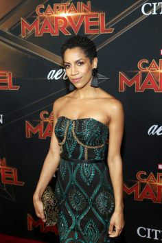 "HOLLYWOOD, CA - MARCH 04: Singer Dominique Tipper attends the Los Angeles World Premiere of Marvel Studios' ""Captain Marvel"" at Dolby Theatre on March 4, 2019 in Hollywood, California. (Photo by Jesse Grant/Getty Images for Disney) *** Local Caption *** Dominique Tipper"