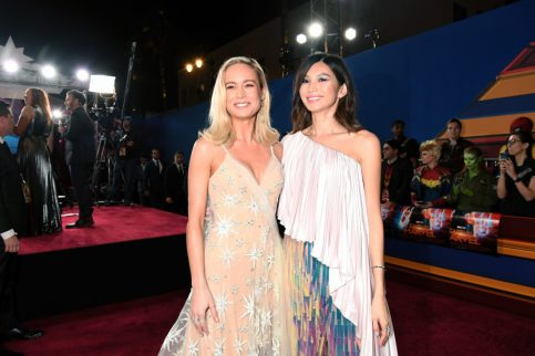 "HOLLYWOOD, CA - MARCH 04: (L-R) Actors Brie Larson and Gemma Chan attend the Los Angeles World Premiere of Marvel Studios' ""Captain Marvel"" at Dolby Theatre on March 4, 2019 in Hollywood, California. (Photo by Charley Gallay/Getty Images for Disney) *** Local Caption *** Gemma Chan; Brie Larson"